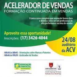 Acelerador de vendas: alta performance será debatida em evento na ACV